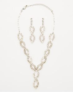 Le Château: Gem Encrusted Necklace and Earring Set