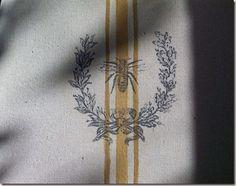 fantastic tutorial on faux grainsack / image transfer fabric