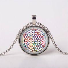 Flower of Life Sacred Pendant Necklace Boho Gift Charm