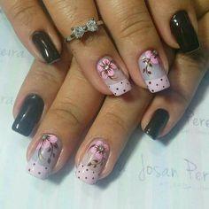 Glam Nails, Hot Nails, Fancy Nails, Pretty Nails, Finger Nail Art, Floral Nail Art, Bright Nails, Best Nail Art Designs, Flower Nails