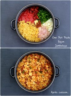 jambalaya façon pasta one pot One pot pasta façon jambalayaYou can find Best pasta recipes and more on our website Mac And Cheese Rezept, Crockpot Recipes, Chicken Recipes, Italian Pasta Recipes, Vegetarian Recipes, Healthy Recipes, Healthy Food, Vegetarian Italian, Batch Cooking