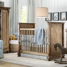 21 Heavenly Baby & Child Rooms Design Ideas:  Blue White Wood Boys Nursery Design
