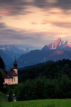 Maria Gern Chapel in Berchtesgadener Land, Bavarian Alps, Germany by Stefan Thaler