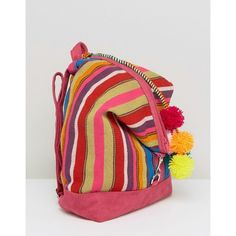 Pitusa Summer Backpack With Pom Pom's ($166) ❤ liked on Polyvore featuring bags, backpacks, backpack bags, day pack backpack, knapsack bag, rucksack bags and red bag