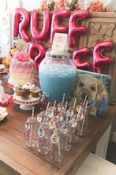 Raeleigh V's Birthday / Dogs / Puppies - Photo Gallery at Catch My Party Dog Themed Parties, Puppy Birthday Parties, Puppy Party, Dog Birthday, Birthday Party Themes, Birthday Ideas, Dog Parties, Parties Food, Birthday Stuff