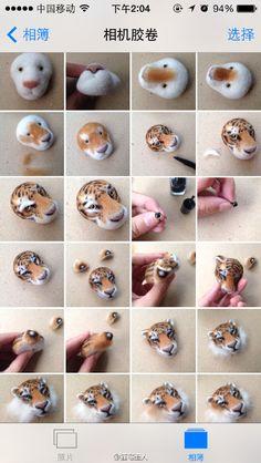 Tiger face tutorial