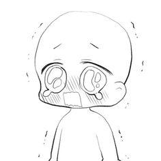 Chibi crying pose