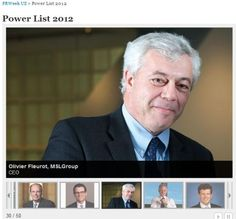 Olivier Fleurot In Power List 2012 by PRWeekUS