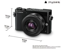 LUMIX GM5 — Interchangeable Single Lens Camera (Micro Four Thirds System) Plus 12-32mm Kit Lens and 35-100mm Telezoom.
