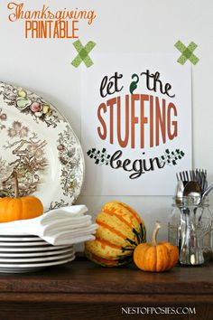 Cute Thanksgiving printable!