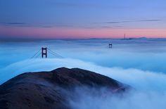 Winter Fog Golden Gate Bridge - Daniel Pivnick