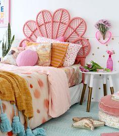 modern boho bedroom ideas- colour crush with kip and co. More on the blog. www.fourcheekymonkeys.com