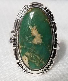 Oblongo Royston turquesa anillo 1207 r