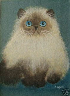 Persian Cat painting by Suzanne Le Goode