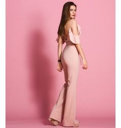 Ολόσωμη Φόρμα με Βε και Βολάν  - Μake up Jumpsuit, Fashion Outfits, Pants, Dresses, Overalls, Trouser Pants, Vestidos, Monkeys, Women Pants