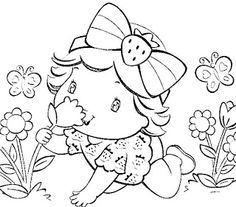 Coloring Pages - Little Girl | KIDS ZONE - COLORING PAGES ...