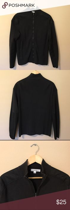 Calvin Klein Men's Cardigan Black 🔹Calvin Klein Men's Cardigan  🔹Full-zip closure  🔹Contrast seam shoulder detail  🔹Long sleeves  🔹Size large  🔹100% Cotton  🔹Excellent used condition!  🌀Bundle to Save 20% 💭Make an offer! Calvin Klein Sweaters Zip Up