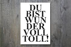 "Druck ""Du bist wundervolltoll"" // Print ""You are awesome"" by ohkimiko via DaWanda.com"