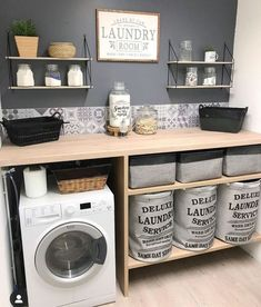 scandinavian furniture Home Deco auf In - furniture Laundry Room Organization, Laundry Room Design, Laundry Rooms, Laundry Room Inspiration, Interior Inspiration, Small Laundry, Küchen Design, Design Ideas, Small Bathroom