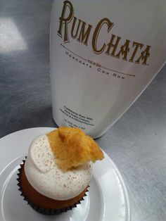 Rum Chata cupcakes - cupcakes with alcohol in them