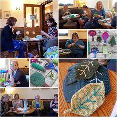 Enlarging the for the Tree leaves Yarnstorm Tree Leaves, Workshop, Knitting, Atelier, Tricot, Work Shop Garage, Breien, Stricken, Weaving
