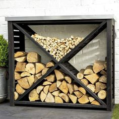 36 The Best Firewood Storage Design Ideas - It's hard to deny the comfort you get from a wood burning fire but storing a winter supply of firewood takes up a lot of space. A firewood storage rac. Outdoor Firewood Rack, Firewood Holder, Firewood Shed, Outdoor Storage, Indoor Log Storage, Mens Room Decor, Home Decor, Galvanized Sheet Metal, Rustic Gardens