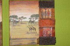 Cuadro étnico con texturas. Hace unos años,  ya de este cuadro. Cuando empezamos a jugar con las texturas. ...