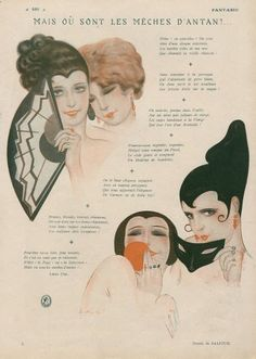 Sacha Zaliouk (1887–1971). Mais ou sont les Mèches d'Antan'?... Fantasio, 1925. [Pinned 1-i-2015]