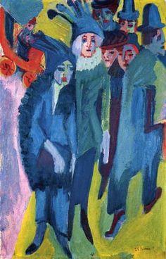 Ernst Ludwig Kirchner - Escena de la calle
