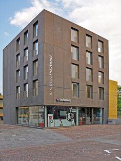 Betonelemente, Betonfertigteile, stahlarmierte Elemente, Glasfaserbeton, Betonfassaden, Betongartenmöbel–Referenzen–Referenz Detailansicht