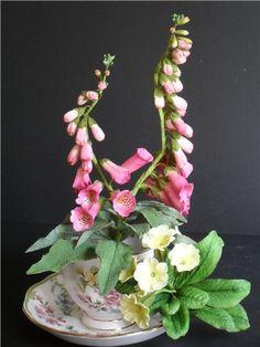 Sugar Foxglove and Primrose arrangement by Elena H.