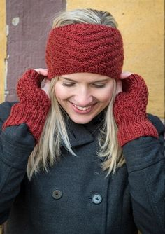 Pandebånd og pulsvarmere Hue, Hand Knitting, Cowl, Headbands, Knitted Hats, Winter Hats, Beanie, My Style, Patterns