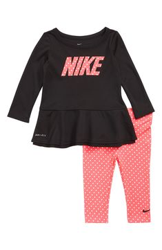 0d6a2d43ab7 Free shipping and returns on Nike Dri-FIT Peplum Tunic & Leggings Set (