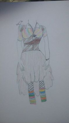 first sketch of my characters costume design