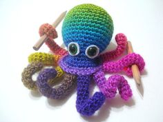 Crochet Tutorial, Octopus, Amigurumi Crocheted Octopus Pattern