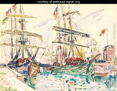 Bateaux au port - Paul Signac - www.paul-signac.org
