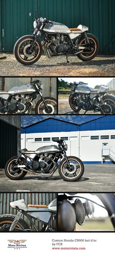 Honda Custom CB900 bol d'or by FCR ~ Featured on Moto Rivista