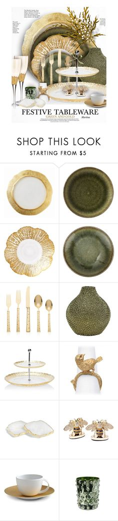 """Festive Tableware"" by thewondersoffashion ❤ liked on Polyvore featuring interior, interiors, interior design, home, home decor, interior decorating, Jars, Kate Spade, Vietri and L'Objet"