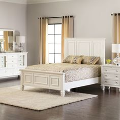 White Queen Bed Set Bedroom Furniture Jerome S Home Decor Rustic