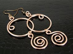 Reserved for Katie Wire Wrap Hammered Copper & by BonzerBeads
