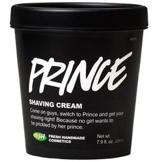 "Prince Shaving Cream: ""Come on guys, switch to Prince and get your shaving right! Because no girl wants to be prickled by her prince"""