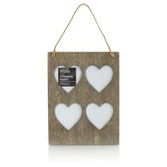 George Home Wooden Hearts Photo Frame | Frames | ASDA direct