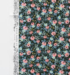 Rosa (Hunter) Screen Printed 100% Cotton