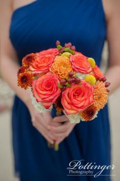What could be more beautiful than a fall wedding? This creative couple included so many unique decor and personal touches! We love the elegant and rustic idea combo! The orange and blue wedding colors are romantic. Photo by: Pottinger Photography www.pottingerphoto.com Location: Cincinnati Nature Center, Krippendorf Lodge, Cincinnati Ohio Flowers: Blossoms Florist Cake: A Spoon Fulla Sugar Dress: Bridal and Formal Makeup:Brideface Tuxes: Folchi's Formal Wear