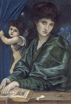Maria Zambacco by Edward Burne-Jones, 1870. The Greek heiress Maria Zambacco was beautiful and wealthy. She frightened her first admirer George du Maurier and married the boring Dr Zambacco. Their marriage failed and she went to London to live with her mother and become a sculptor. Click to read about her affair with Burne-Jones