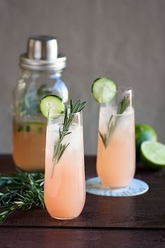 A cool, refreshing beverage that combines grapefruit with a subtle hint of rosemary.