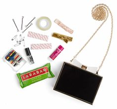 All the must-have items for your  #prom clutch #promitfirst