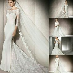 Be styled by De La Vida with designer bridal gowns fit for any bride this coming Winter.  If you are looking for a demure look, wedding dresses with sleeves not only offer coverage, but they will add an air of grace to your bridal look. Fashioned by the one and only Kate Middleton, who's wedding dress featured beautiful lace sleeves.  Here are 6 DREAM DRESSES boasting a lace sleeve/trendy cape by Pronovias 2017 collection.  Available to fit at our Fourways store. Call and book today Wedding Dress Sleeves, Lace Sleeves, Dresses With Sleeves, Wedding Dresses, Grace To You, Bridal Looks, Dream Dress, Kate Middleton, Cape