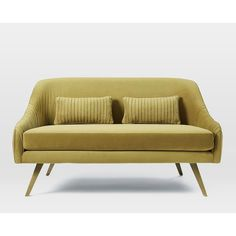 Roar Rabbit Glamour Velvet Sofa ($1,099) via Polyvore featuring home, furniture, sofas, velvet loveseat, velvet furniture, velvet love seat, velvet couch and bunny furniture