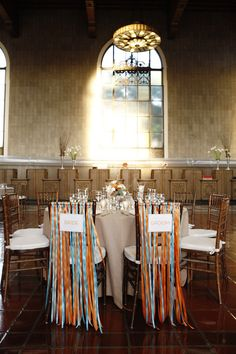 ribbon sweetheart table chairs